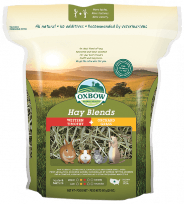 Oxbow guinea pig products: Oxbow Hay Blend Timothy and Orchard Grass | GuineaPigDen.com